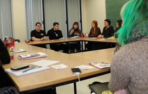 Pablo Godoy attends Women Works and Union class at Brock University